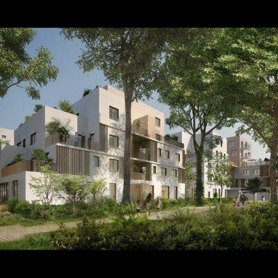 Les Dryades Hanna-Réalisation Vinci Immobilier sur la commune de Saint Priest dans le Rhône